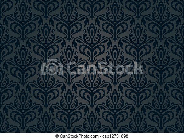 black vintage wallpaper background - csp12731898