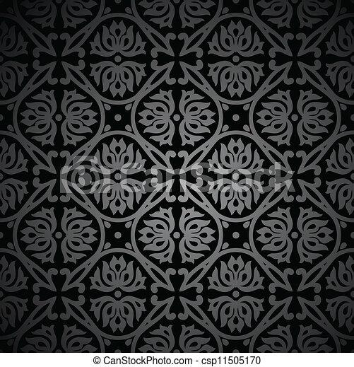 Black Vintage Wallpaper Vector Vectors