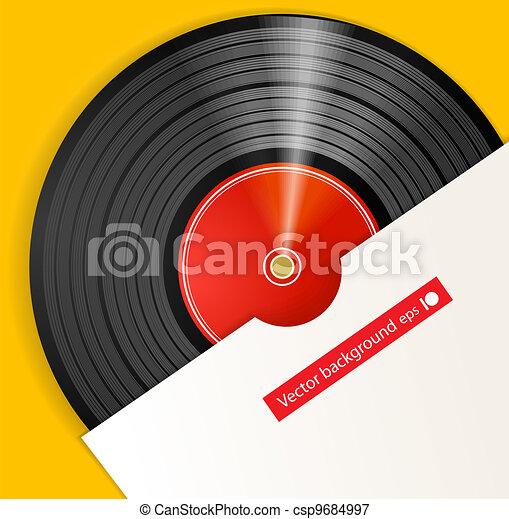 Black vinyl disc with cover - csp9684997