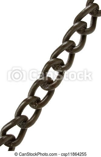 black , vrijstaand, ketting - csp11864255