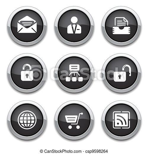 black web buttons - csp9598264