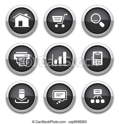 black web buttons - csp9598263