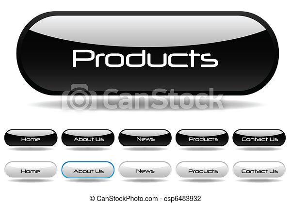 Black Web Buttons - csp6483932