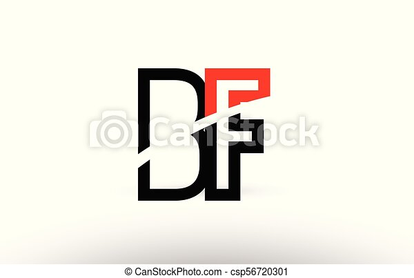 Black White Alphabet Letter Bf B F Logo Icon Design Black White And