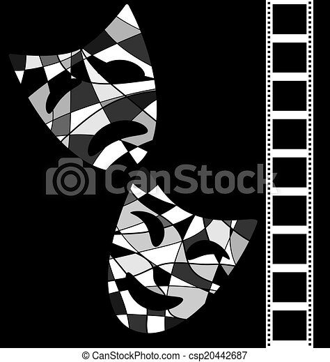 Black white background cinema csp20442687