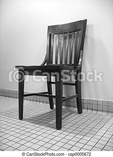 Black & White Chair - csp0005672