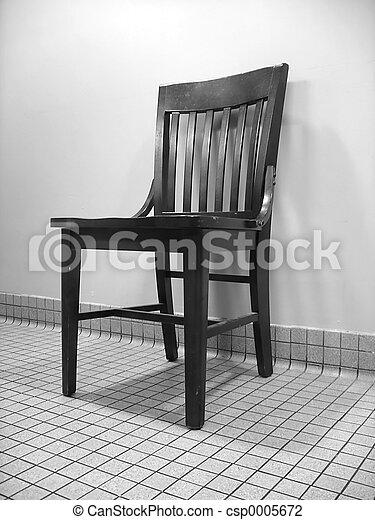 Black & White Chair - csp0005672