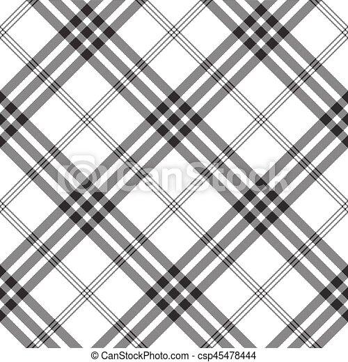 Black White Check Pixel Square Fabric Texture Seamless Pattern