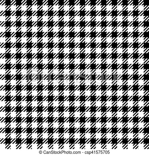 Black White Check Plaid Seamless Fabric Texture Vector Illustration