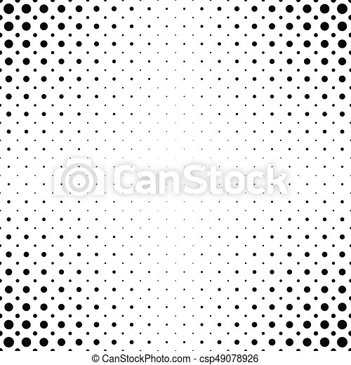 Black white dot pattern background csp49078926