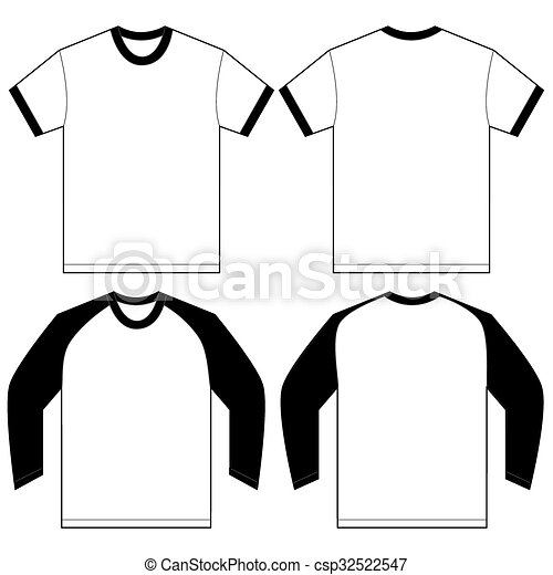 black white ringer t shirt design template vector eps vector rh canstockphoto com football t shirt designs clipart