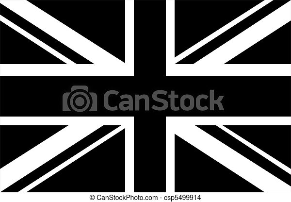 Black white union jack csp5499914