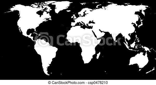 Black & white world - csp0478210