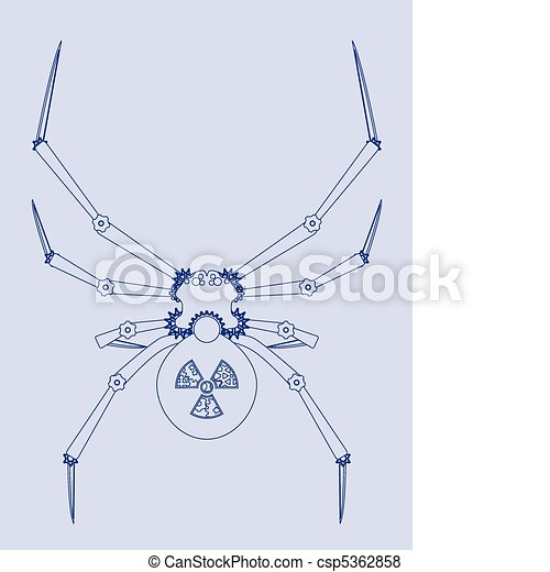 Black widow bot blueprint blueprint for a black widow vector black widow bot blueprint csp5362858 malvernweather Images