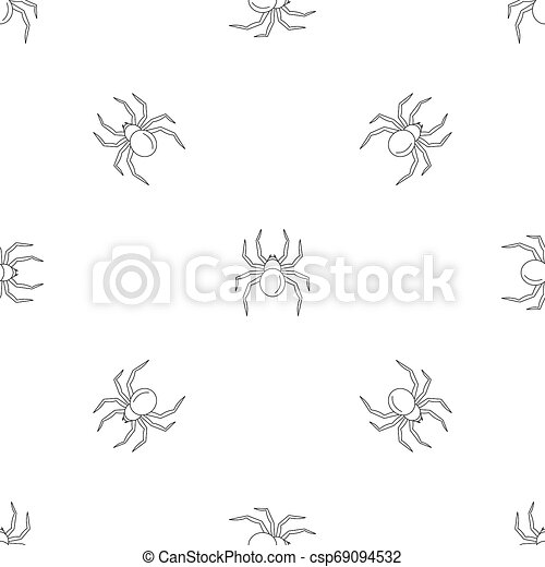 Black Widow Spider Pattern Seamless Repeat Geometric For Any Web Design
