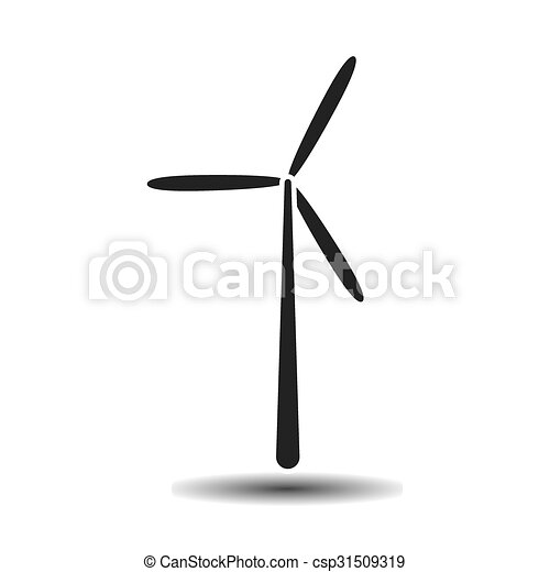 black wind generator vector icon on light background with vector rh canstockphoto com