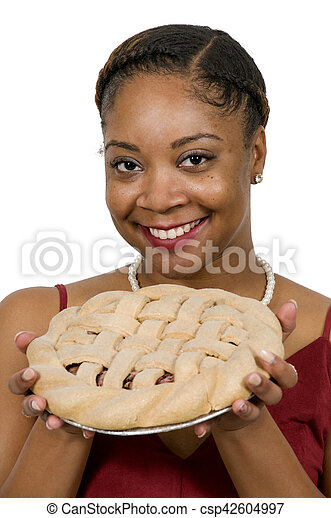 Black Woman with Pie - csp42604997