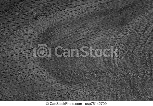 Black wood texture. Old natural oak background. - csp75142709