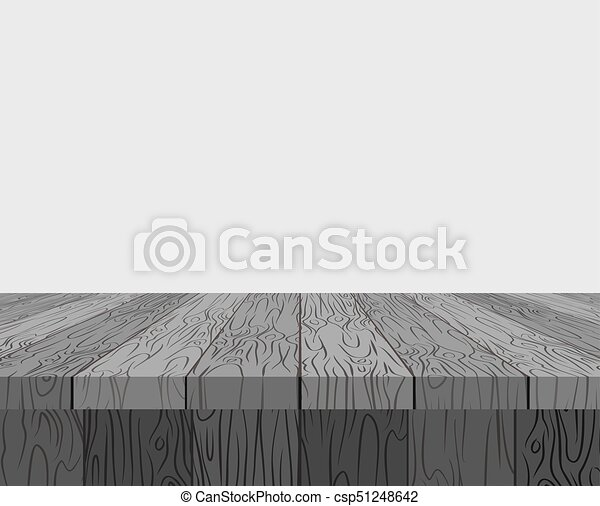 Black Wooden Table Background Texture Tree Vector Illustration Plane