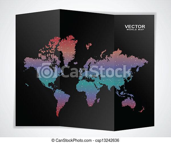 Black world map black world map csp13242636 gumiabroncs Images