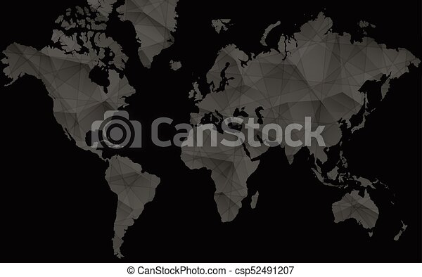 Black world map for infographics abstract vector map gumiabroncs Images