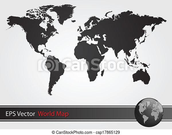 Black world map illustration vector illustration search clipart black world map illustration gumiabroncs Images