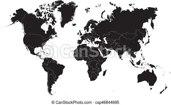 Black world map on a white background vector illustration eps black world map on a white background vector illustration gumiabroncs Image collections