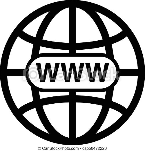 Black world wide web vector icon