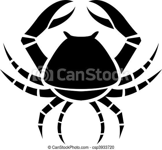 Black zodiacs Cancer - csp3933720