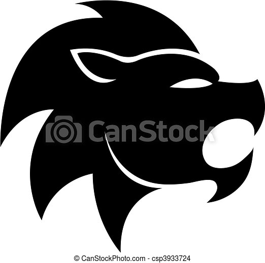 Black zodiacs leo - csp3933724