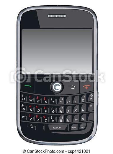 blackberr, /, telefono cellulare, vettore, pda - csp4421021