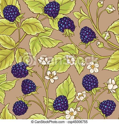 blackberry seamless pattern - csp45006755