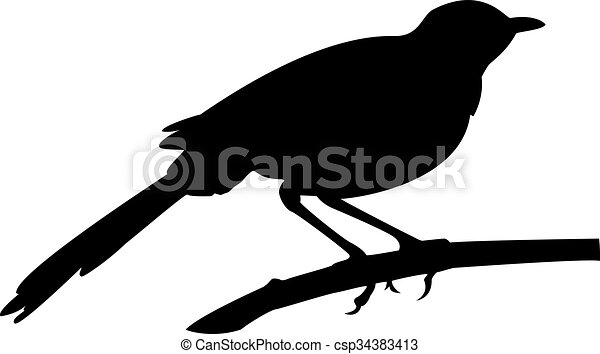 a silhouette of a blackbird on branch vector clip art search rh canstockphoto com blackbird clipart free red winged blackbird clipart