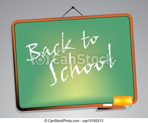 Blackboard. Back to school  - csp10165213