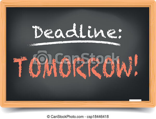 Blackboard Deadline tomorrow - csp18446418