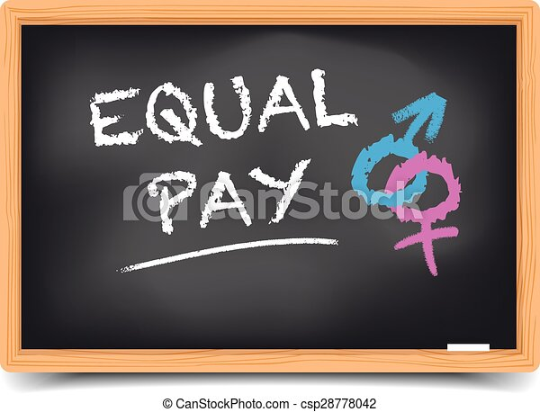 Blackboard Equal Pay - csp28778042