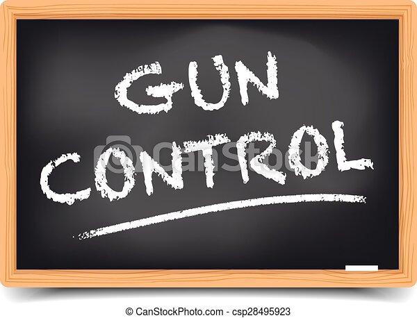 Blackboard Gun Control - csp28495923