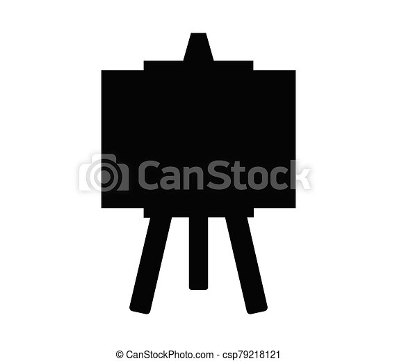 blackboard icon illustrated in vector on white background - csp79218121