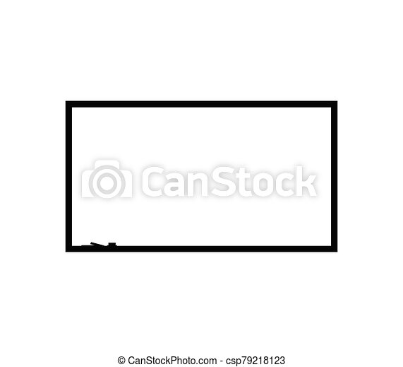 blackboard icon illustrated in vector on white background - csp79218123