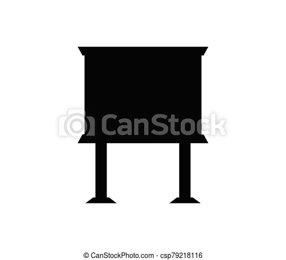 blackboard icon illustrated in vector on white background - csp79218116