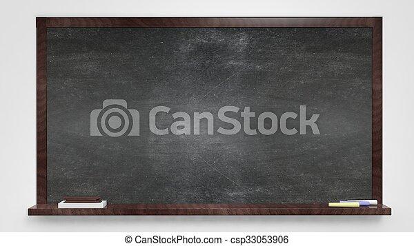 Blackboard on white background - csp33053906