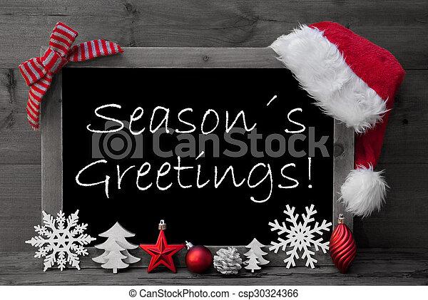 Seasons greetings stock photo images 362456 seasons greetings blackboard santa hat christmas decoration seasons greetings m4hsunfo