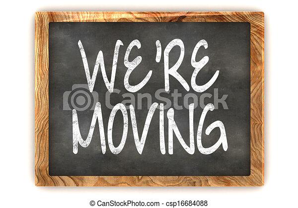 Blackboard We're Moving - csp16684088