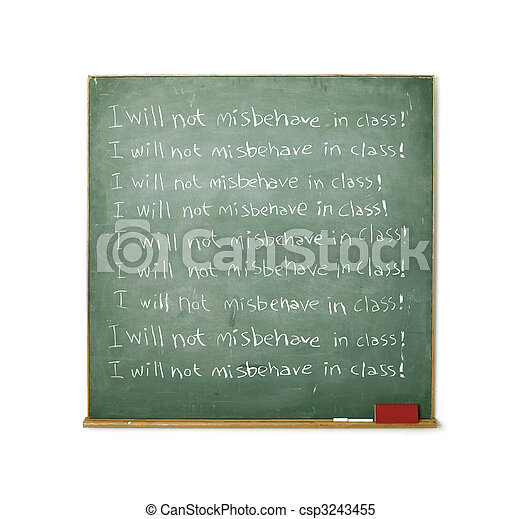 Blackboard with a discipline message written on it - csp3243455