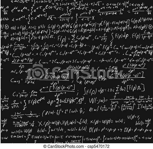 Blackboard With A Math Calculation. - csp5470172