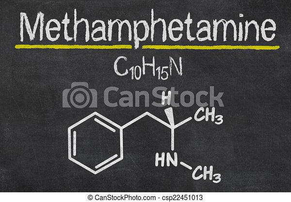 Blackboard with the chemical formula of Methamphetamine - csp22451013