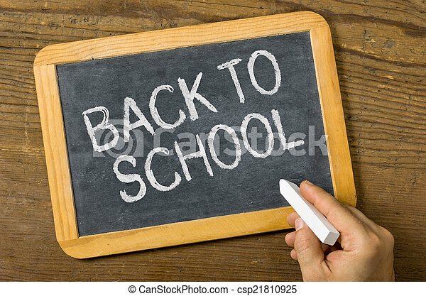 Blackboard with the text Back to school - csp21810925