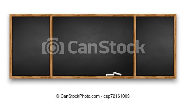 Blackboard with wooden frame - csp72161003