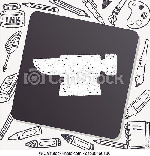 blacksmith doodle - csp38460106