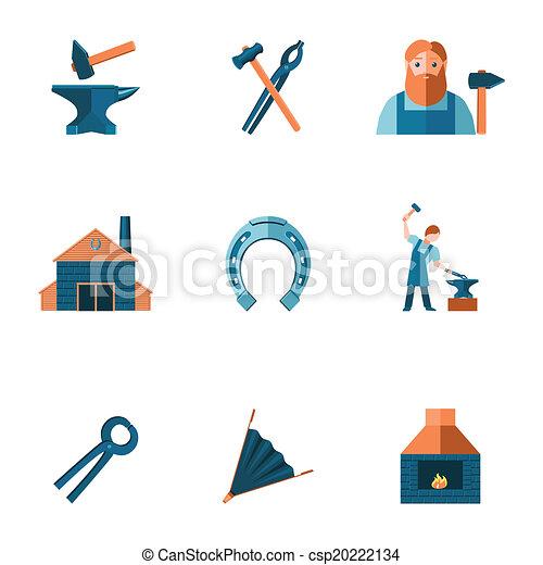 Blacksmith icon set - csp20222134